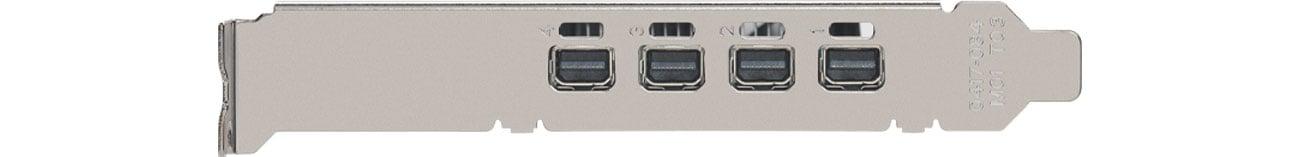 PNY Quadro P1000 V2 4GB - Złącza