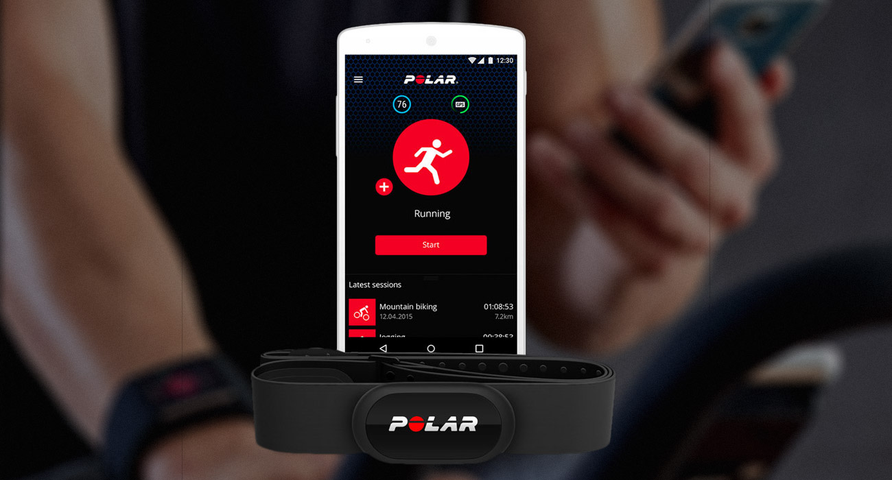 Polar H10 Aplikacja Polar Beat, Połączenie Bluetooth Smart