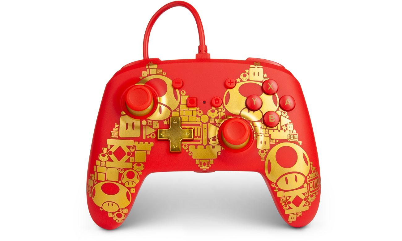 Pad przewodowy Power A Super Mario Golden M do Nintendo Switch