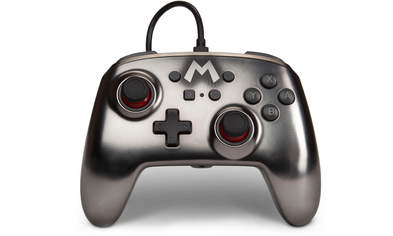Pad przewodowy Power A Super Mario Silver do Nintendo Switch
