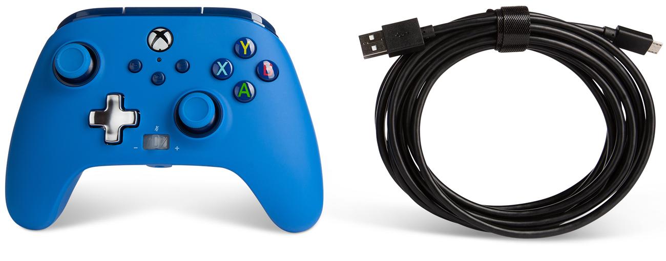 Kontroler przewodowy PowerA Enhanced do Xbox Series X S Niebieski
