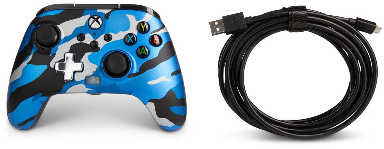 Kontroler przewodowy PowerA Enhanced do Xbox Series X|S Metallic Blue Camo