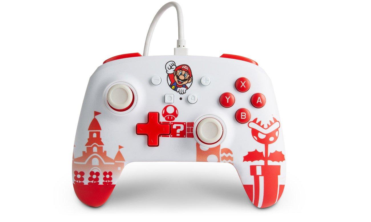 Przewodowy pad PowerA Mario Red & White do Nintendo Switch