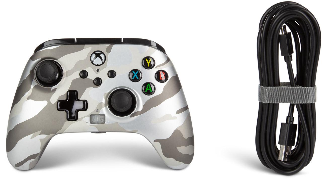 Kontroler przewodowy PowerA Enhanced do Xbox Series X S Metallic Camo White