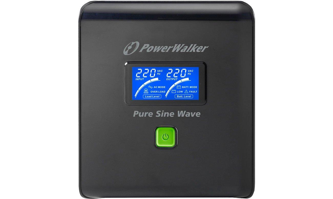 Power Walker VI 1000 PSW FR Wyświetlacz LCD