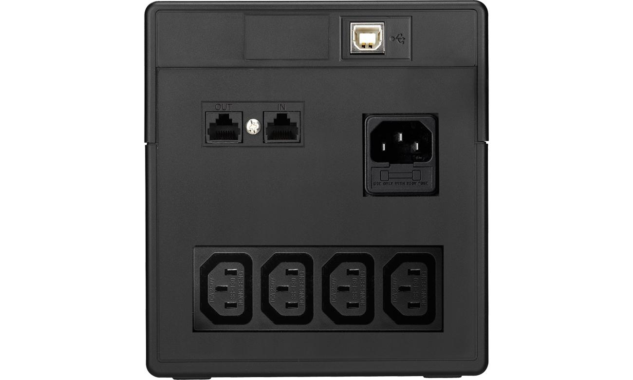 Power Walker VI 1000 PSW widok złączy