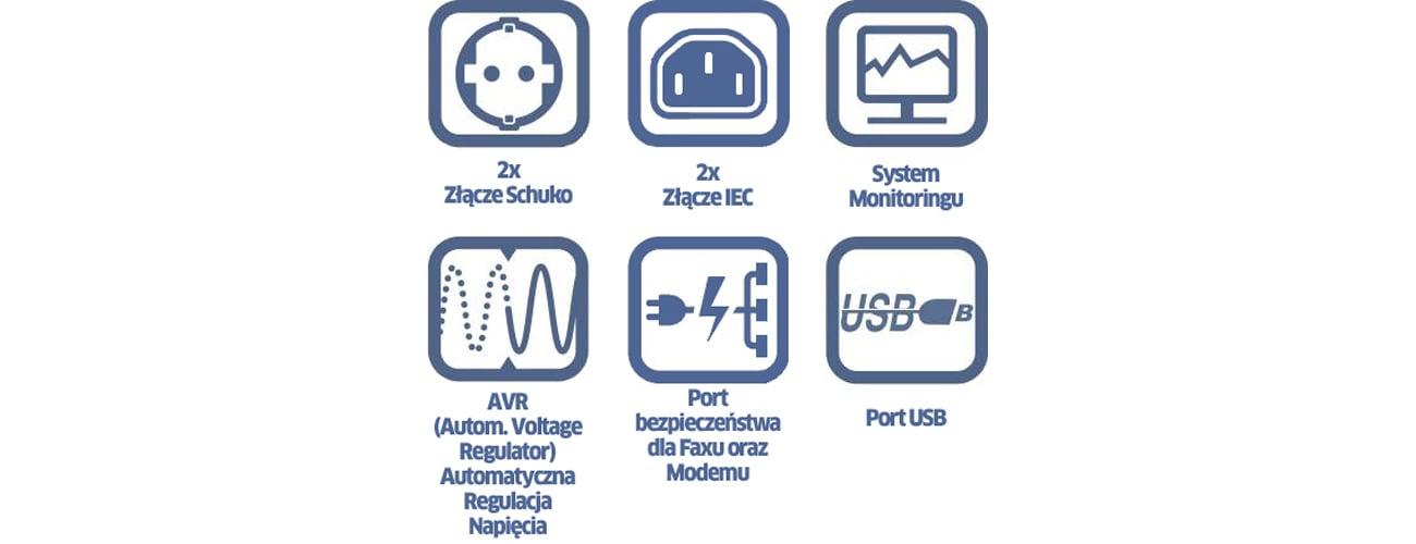 Power Walker VI 1200 LCD Cechy