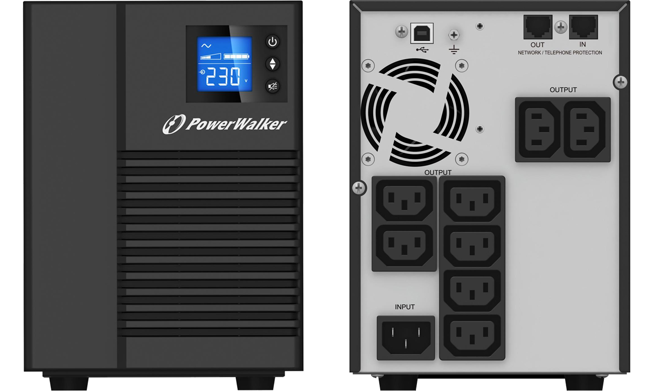 Power Walker VI 1500 T/HID (1500VA/900W) 8XIEC USB HID LCD