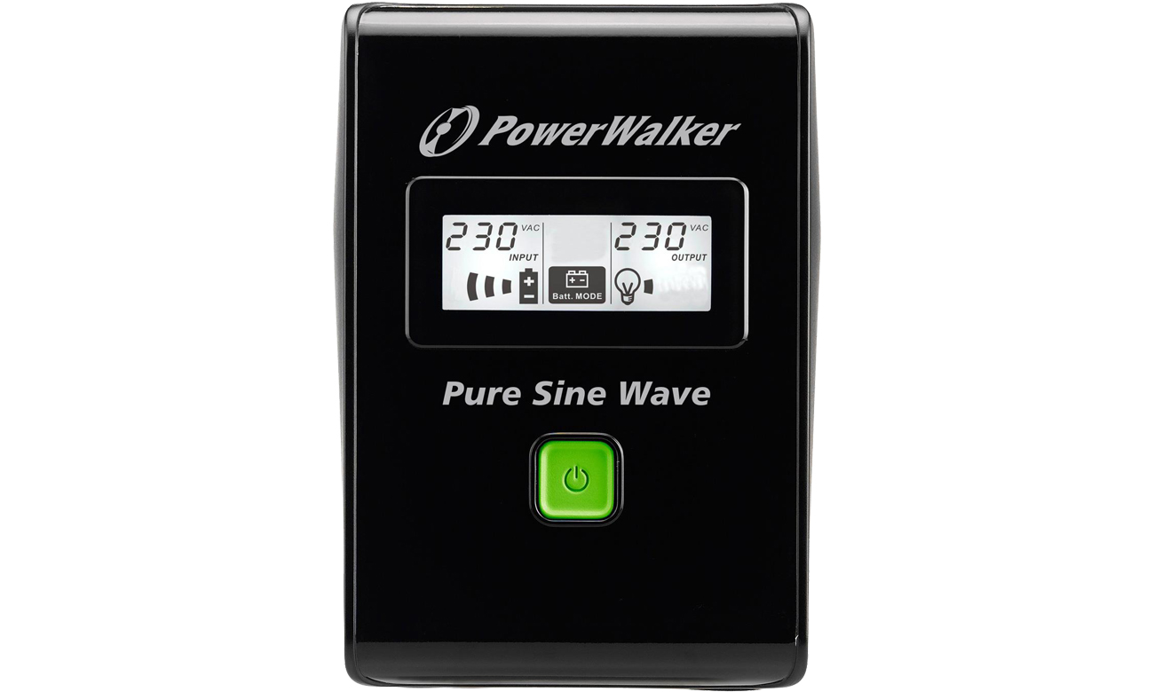 Power Walker LINE-INTERACTIVE 600VA widok z przodu