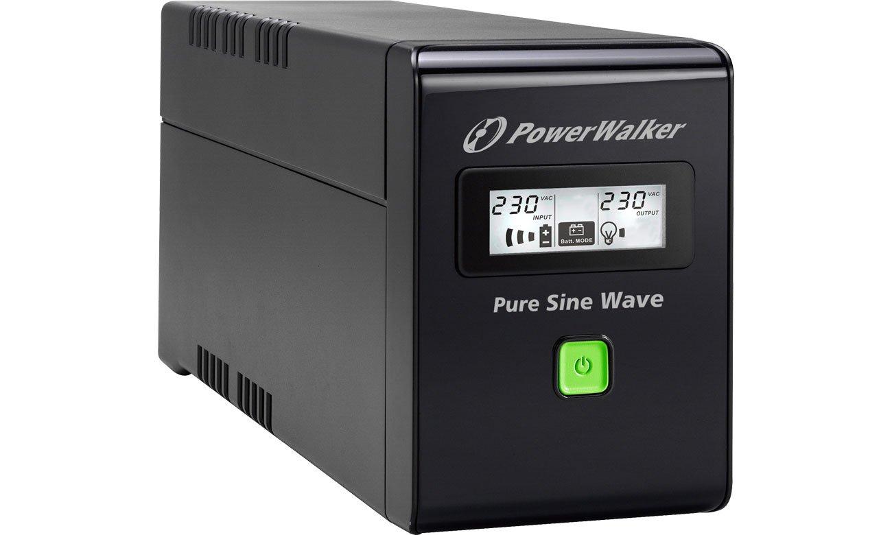 Zasilacz awaryjny (UPS) Power Walker VI 800 SW (800VA/480W) 2xSchuko USB LCD VI 800 SW