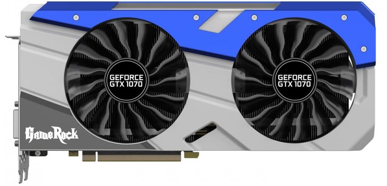 Karta graficzna Palit GeForce GTX 1070 Gamerock Podwójny wentylator
