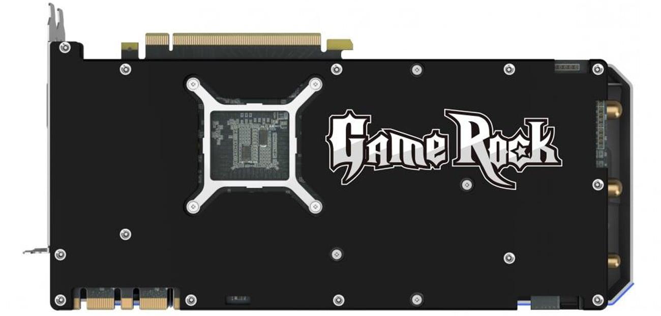 Karta graficzna Palit GeForce GTX 1070 Gamerock Tył obudowa