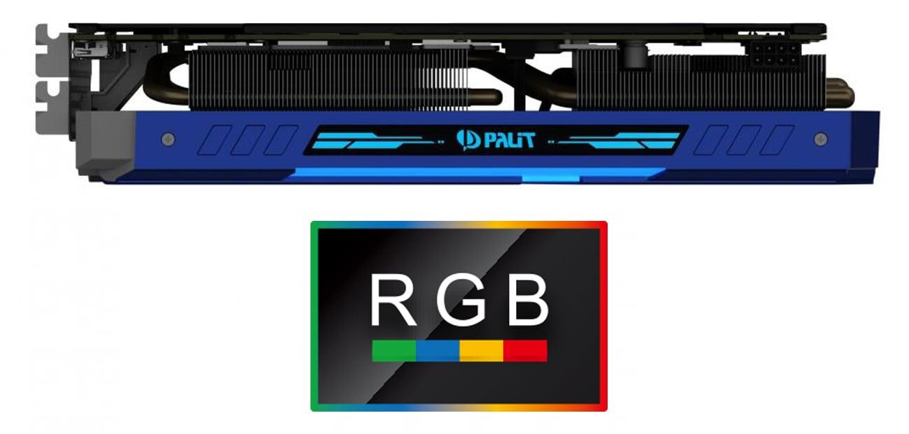 Karta graficzna Palit GeForce GTX 1070 Gamerock Podświetlenie RGB