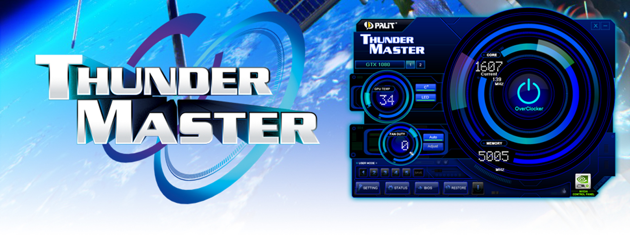 Karta graficzna Palit GeForce GTX 1070 Gamerock ThunderMaster