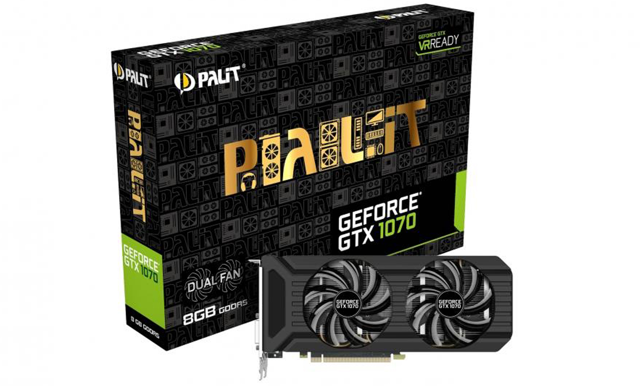 Karta pamięci Palit GeForce GTX 1070 Dual Fan 8 GB