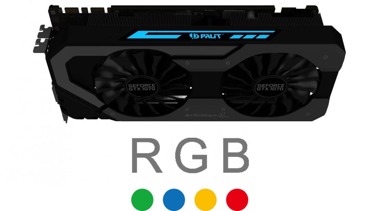 Podświetlenie Palit GeForce GTX 1070 JetStream