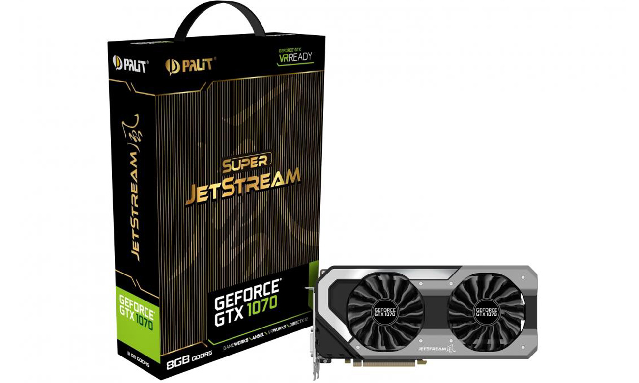 Karta graficzna Palit GeForce GTX 1070 Super JetStream 8GB