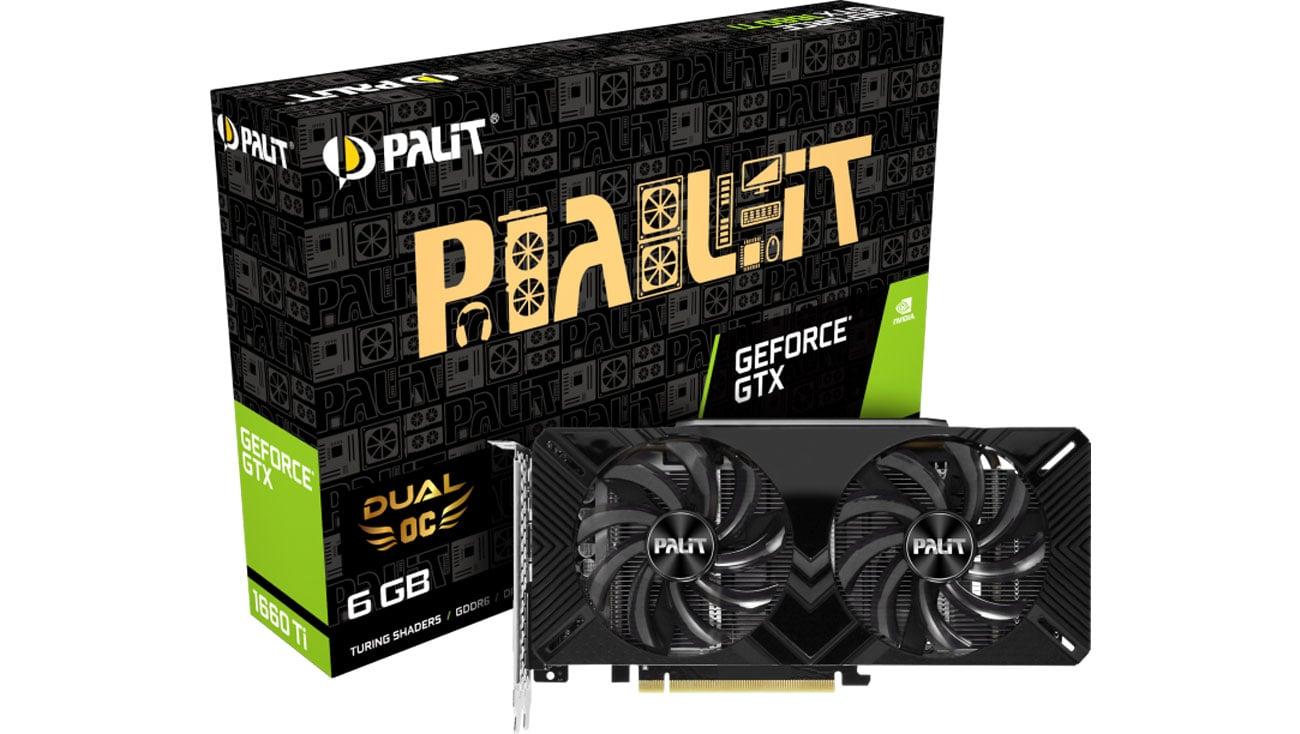 Karta graficzna Palit GeForce GTX 1660 Dual OC 6GB GDDR5