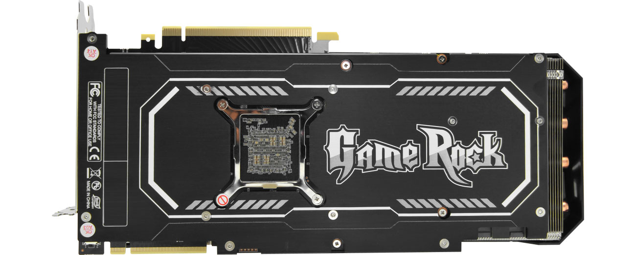 Palit GeForce RTX 2080 GameRock Premium Backplate