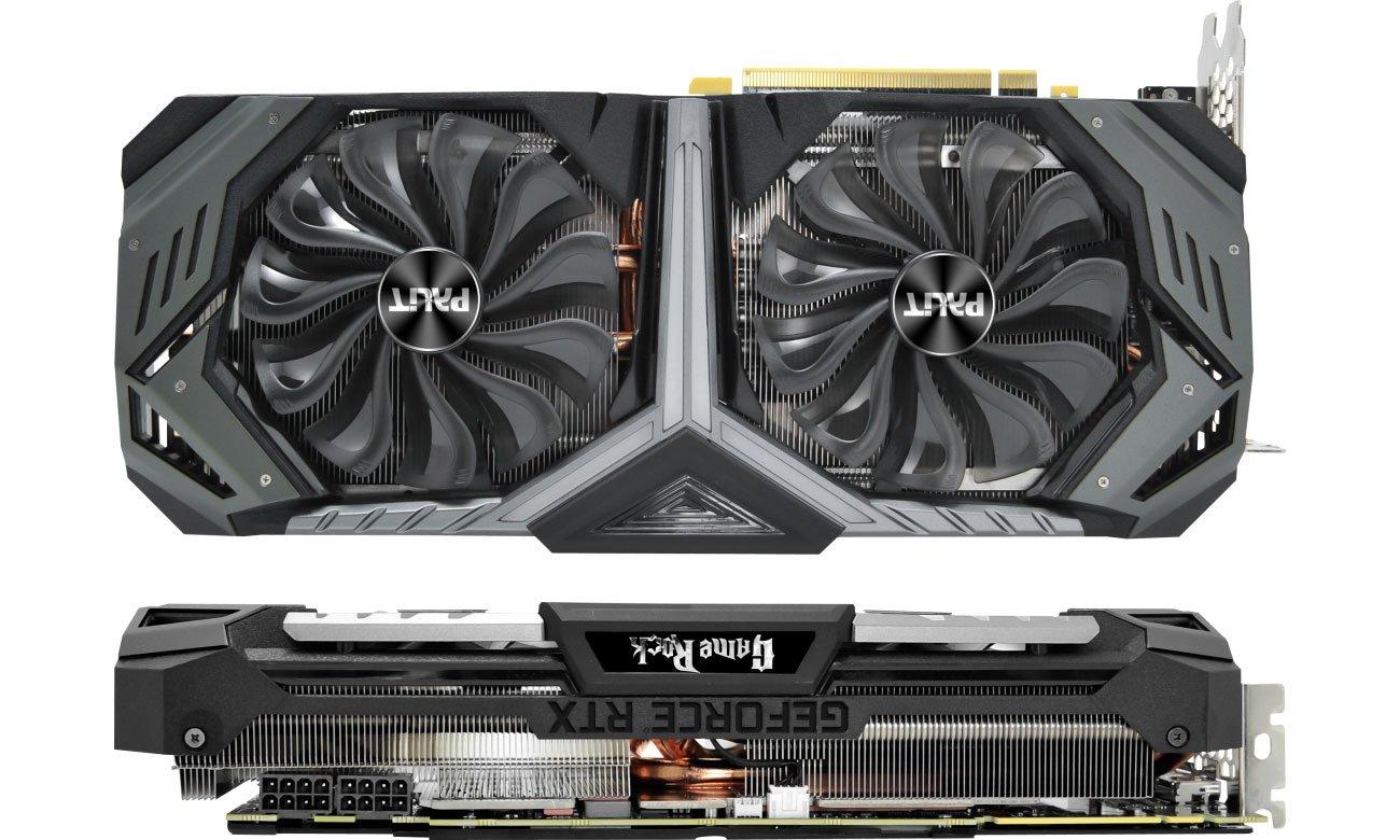 Palit GeForce RTX 2080 GameRock Premium Chłodzenie, dwa wentylatory