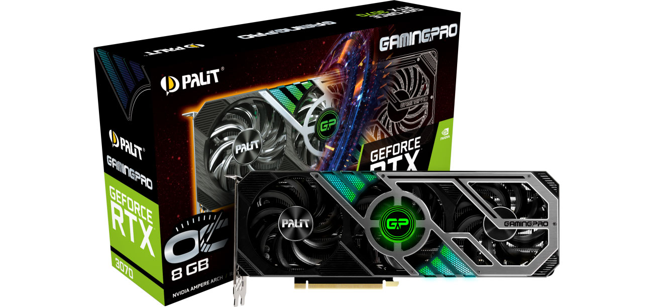 Karta graficzna NVIDIA Palit GeForce RTX 3070 Gaming Pro OC 8GB GDDR6 NE63070S19P2-1041A