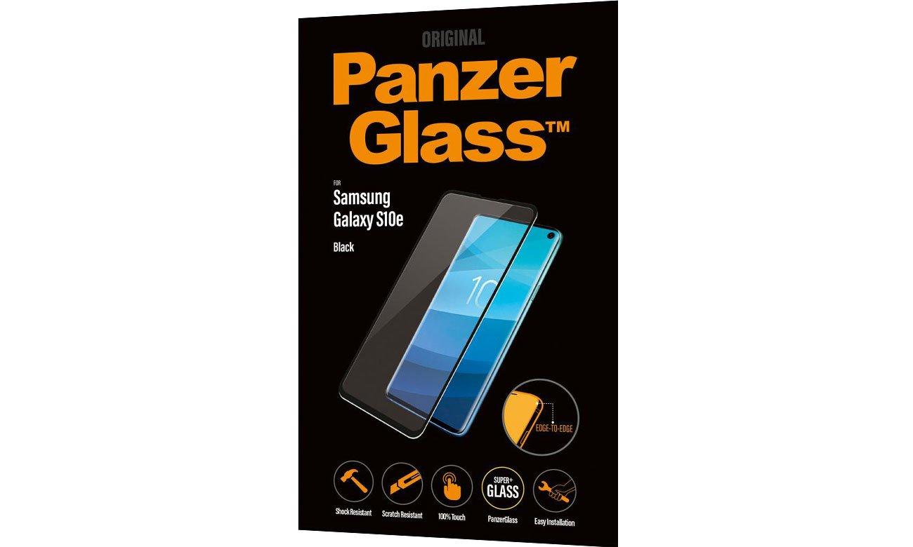 Folia/szkło na smartfon PanzerGlass Szkło Edge Casefriendly do Galaxy S10E Black 5711724071775 / 7177