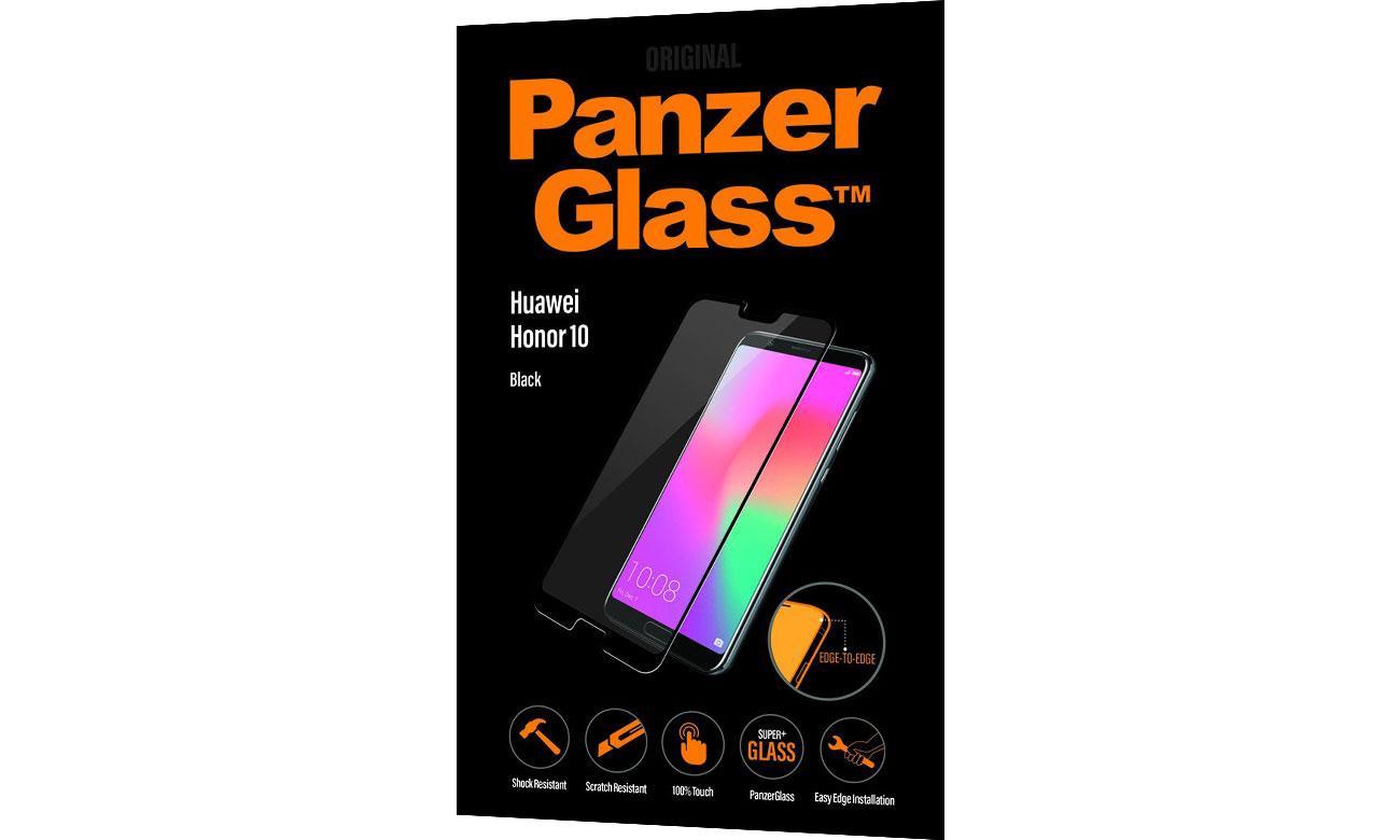 PanzerGlass Szkło Edge do Honor 10 Black 5711724053108 / 5310