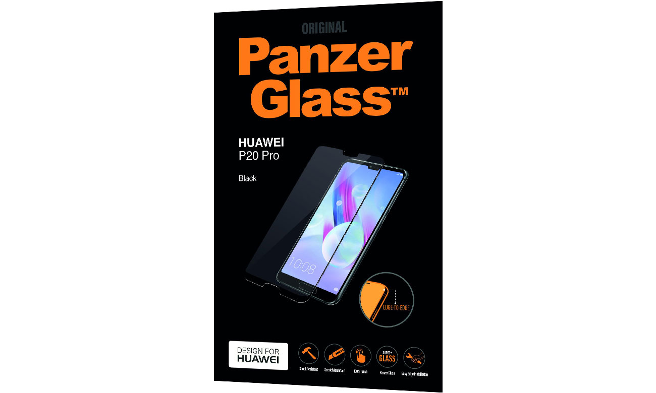 PanzerGlass Szkło Edge do Huawei P20 Pro Black 5711724052996 / 5299