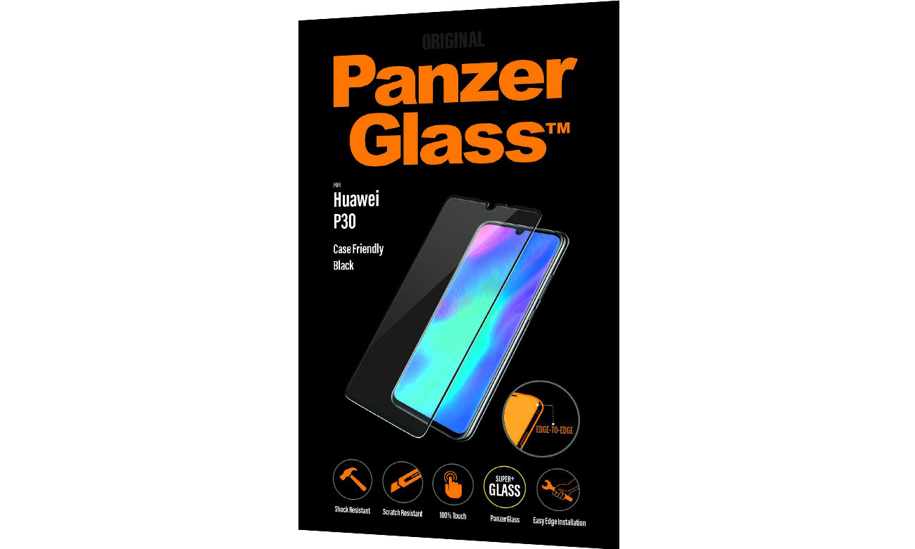PanzerGlass Szkło Edge do Huawei P30 Black 5334 / 5711724053344