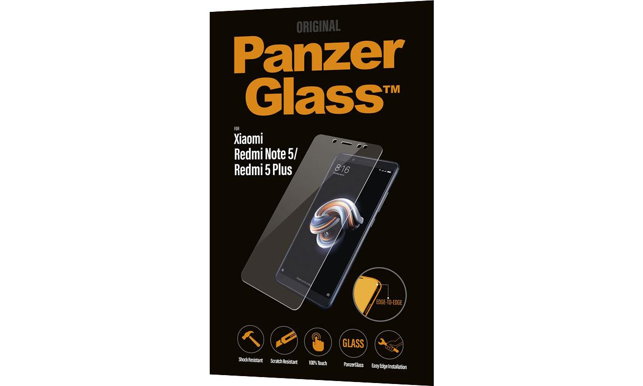 PanzerGlass Szkło Edge do Xiaomi Redmi Note5 / Redmi 5 Plus 5711724080012 / 8001