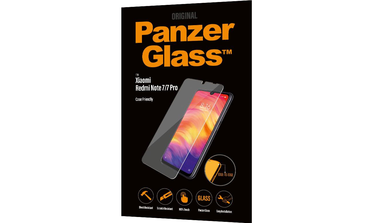 Folia/szkło na smartfon PanzerGlass Szkło Edge Casefriendly do Xiaomi Redmi Note 7 8012 / 5711724080128