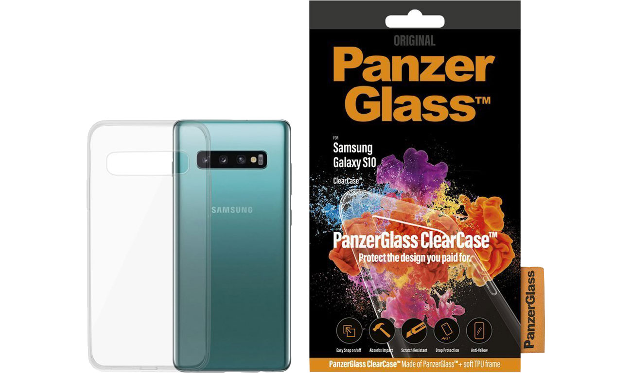 Etui PanzerGlass Clear Case do Samsung Galaxy S10 0195 / 5711724001956