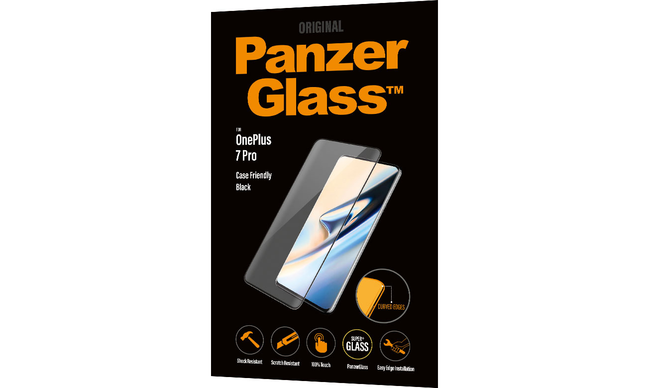 PanzerGlass Szkło Edge Casefriendly do OnePlus 7 Pro Black 7008 / 5711724070082
