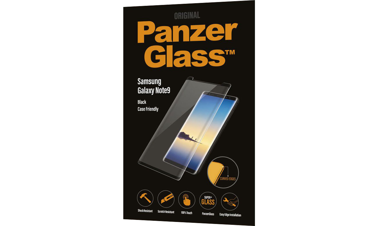 PanzerGlass Szkło Curved Edges do Samsung Note 9 Black 5711724071621 / 7162