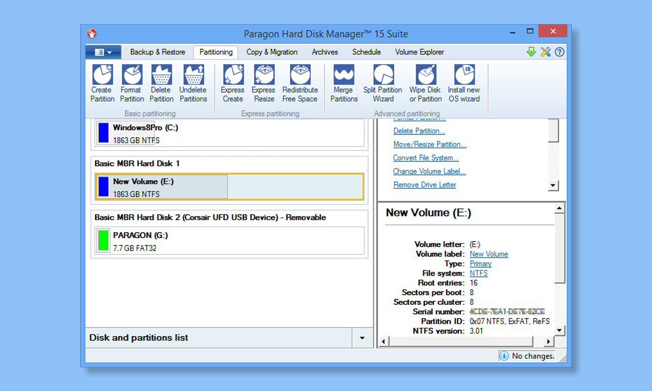 ParagonHard Disk Manager 15 Suite Ulepszony interfejs użytkownika