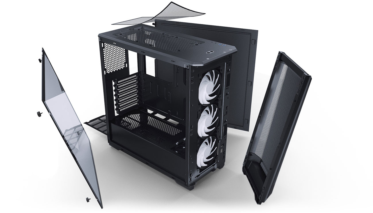 Phanteks Eclipse P400A  Digital Black - Konstrukcja