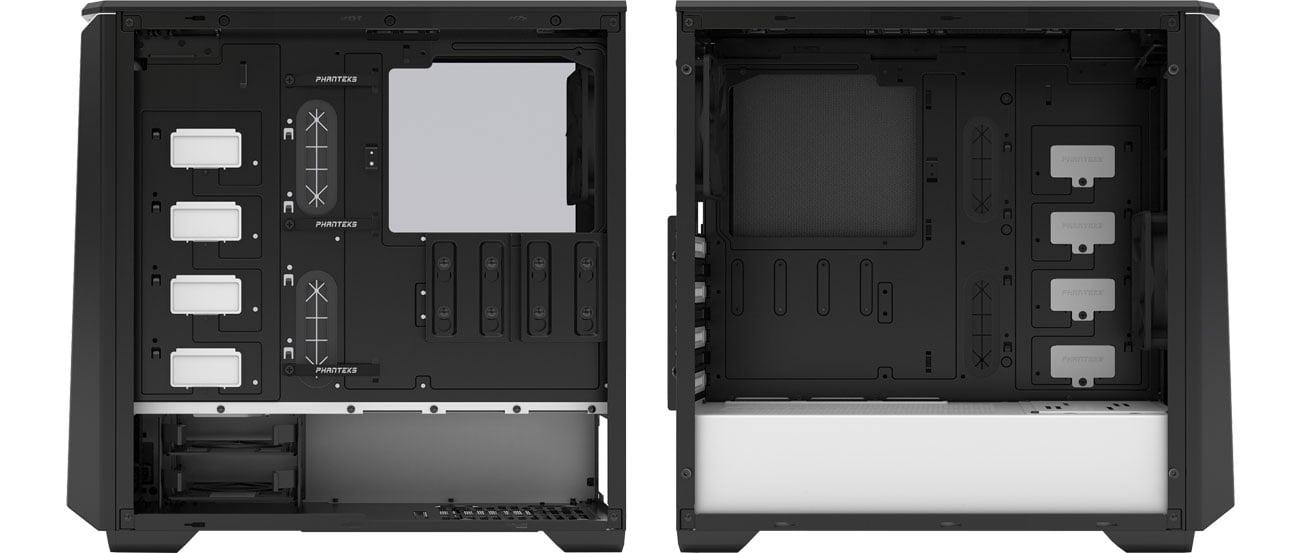 Phanteks Eclipse P400S TG (czarny/biały) - Wnętrze