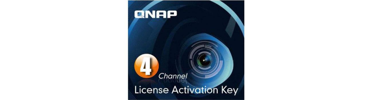 Licencja NVR na kamery QNAP Licencja Camera License Pack (4 dodatkowe kamery) LIC-CAM-NAS-4CH