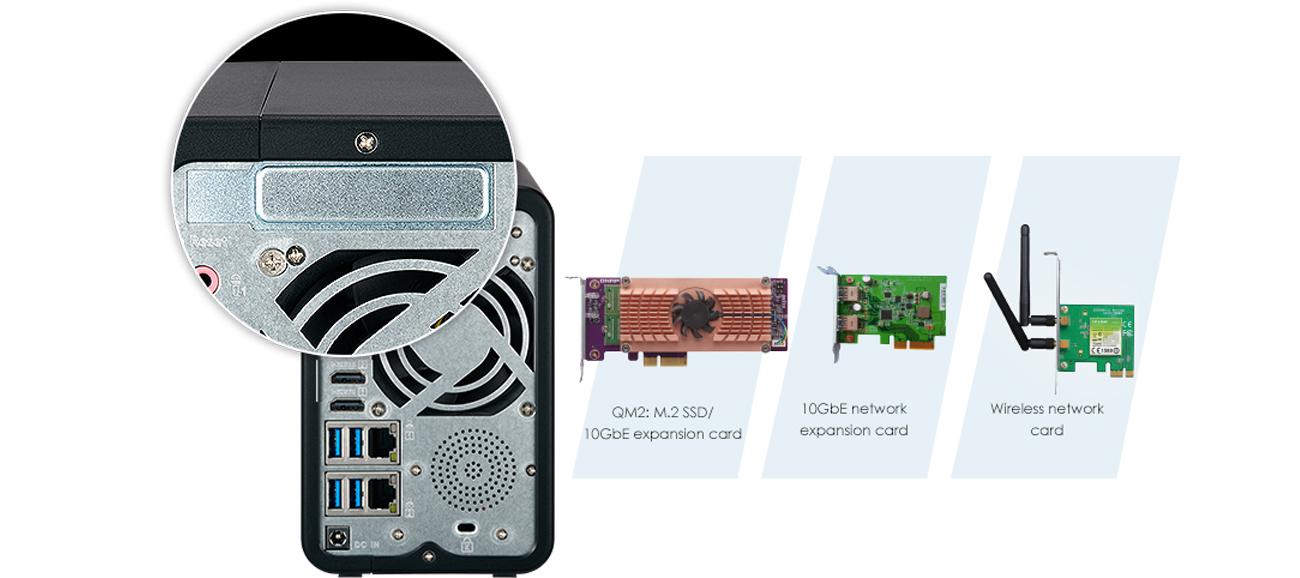 QNAP TS-253B-8G gniazdo PCIe