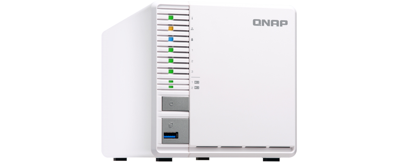 Serwer QNAP TS-351-2G - Widok z przodu