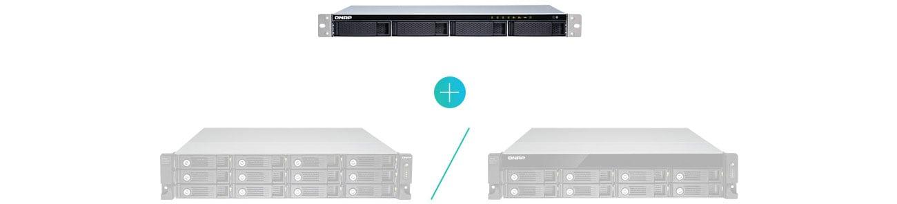 QNAP TS-431XeU-8G Możliwości rozszerzenia
