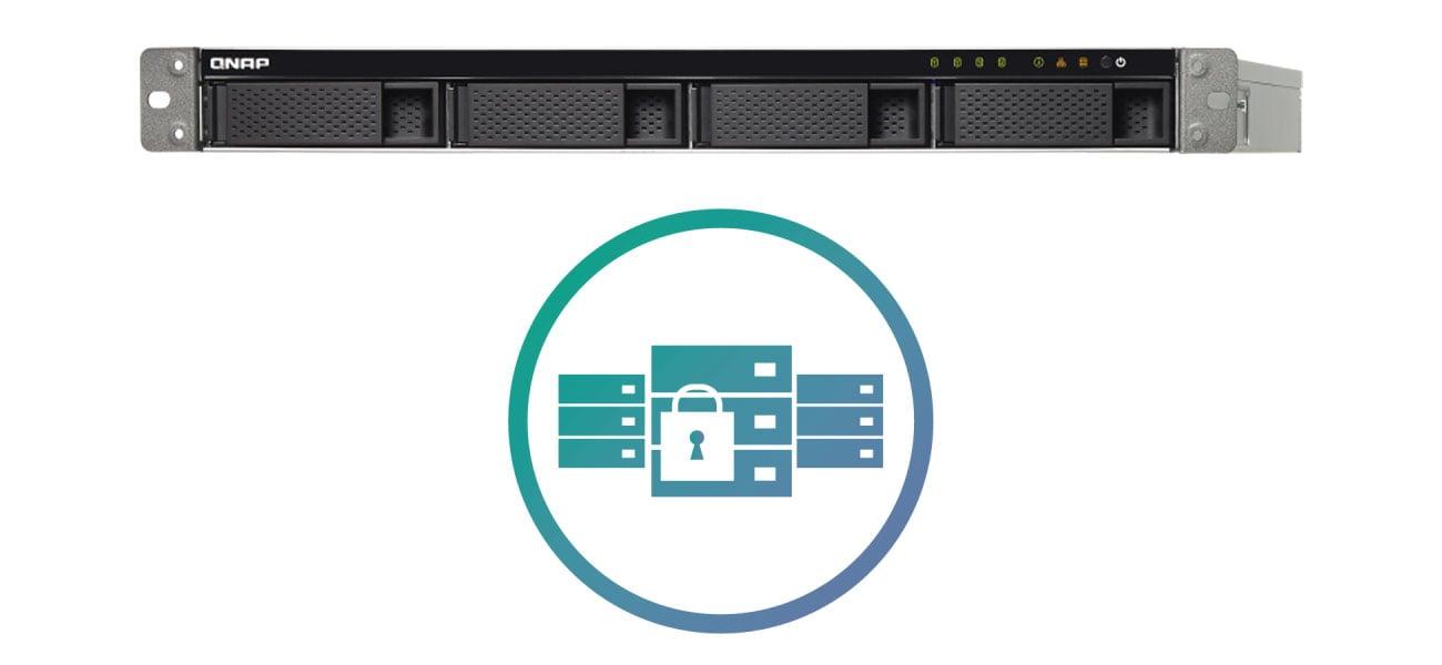 Serwer NAS QNAP TS-432XU-RP-2G Chroń dane na serwerze NAS