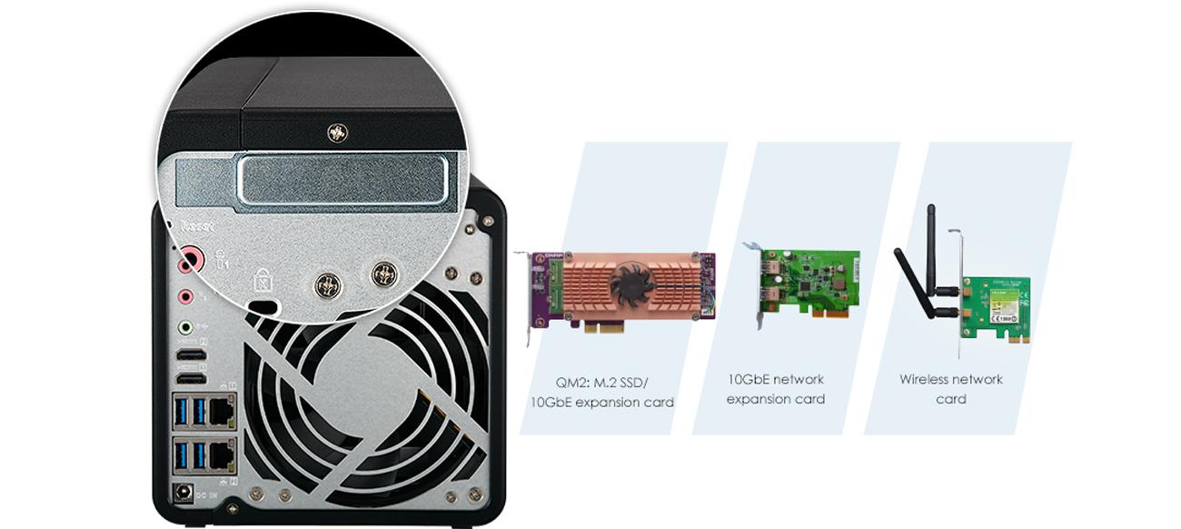 QNAP TS-453B-8G gniazdo PCIe