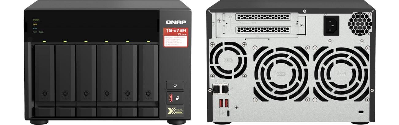 Dysk sieciowy NAS / macierz QNAP TS-673A-8G (6xHDD, 4x2.2GHz, 8GB, 2xLAN)