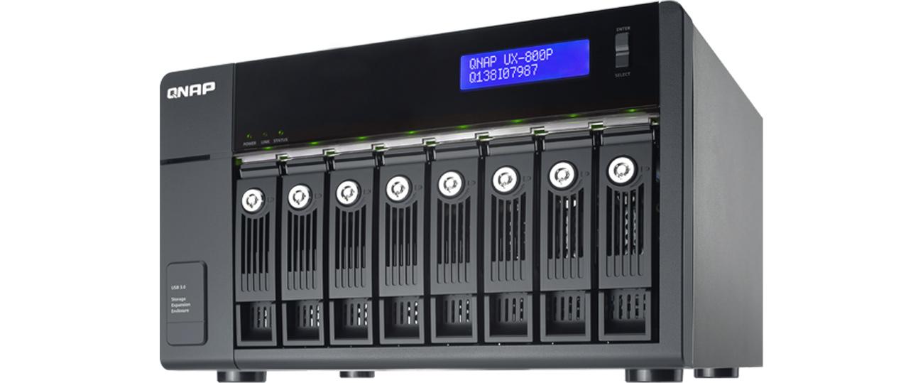 QNAP TX-800P rozbudowa pojemnosci pamięci masowej