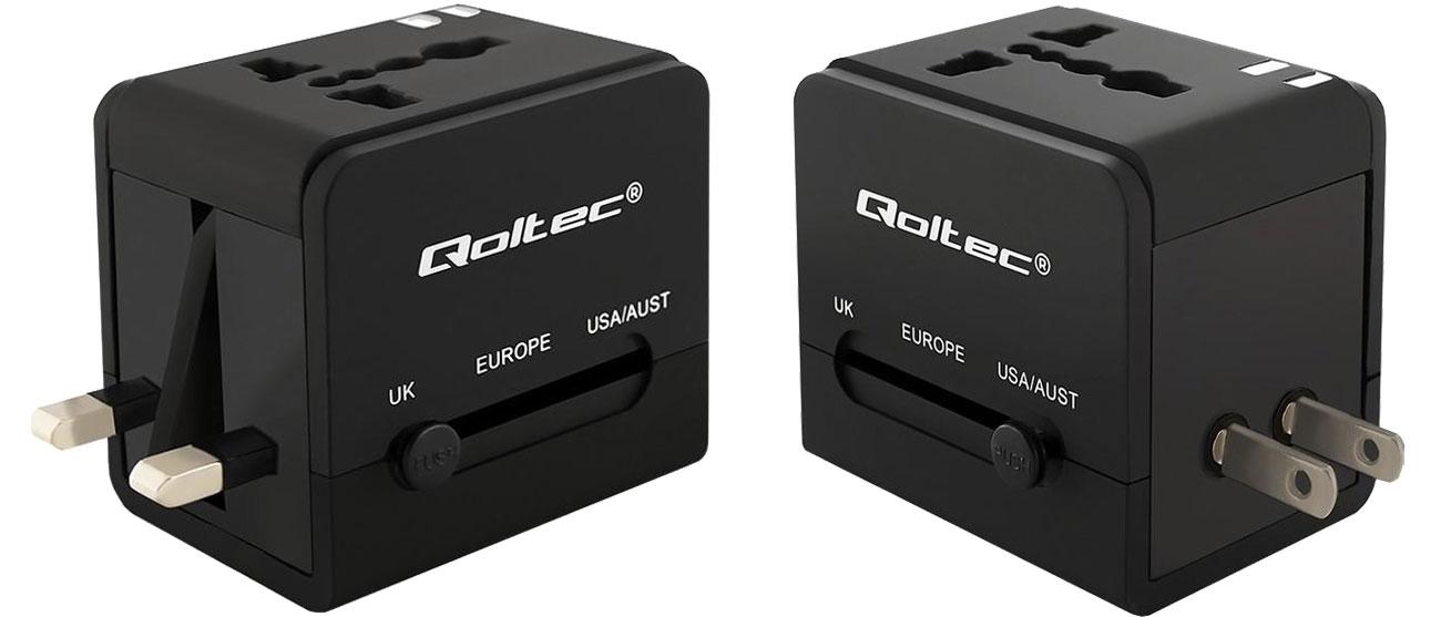 Qoltec Uniwersalny adapter podróżny 10,5 W 5V 2.1A 50133