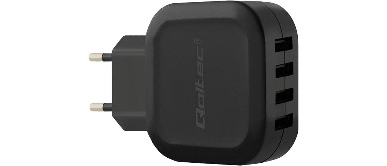 Ładowarka do smartfonu Qoltec Sieciowa 4 x USB 5V 24W 4,8A 50192
