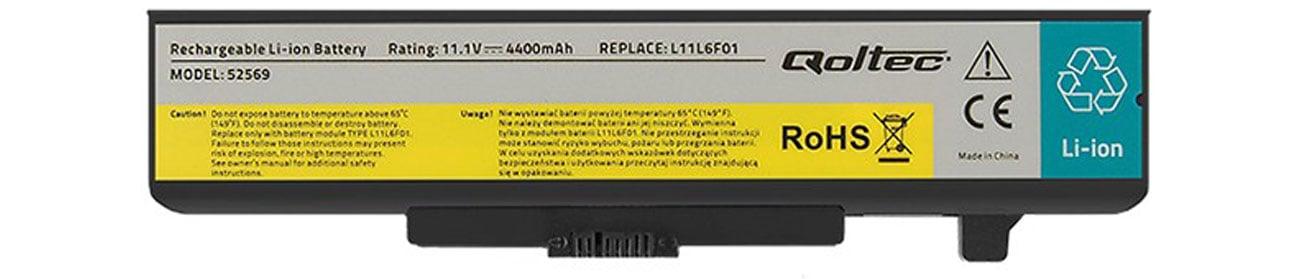 Bateria Qoltec do Lenovo Y480 G480