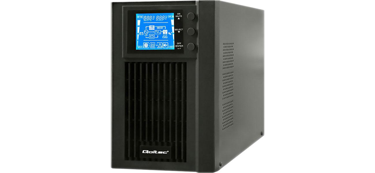 Zasilacz awaryjny (UPS) Qoltec 1000VA / 800W LCD USB