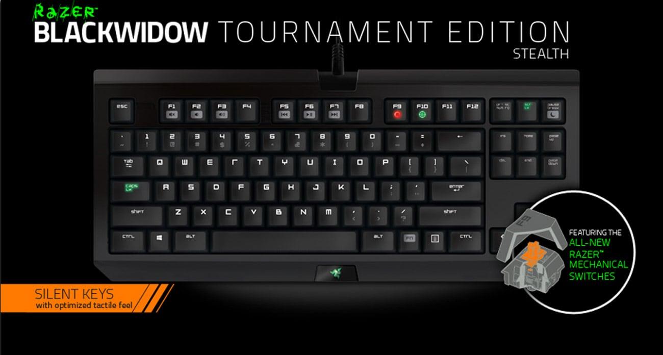 Razer BlackWidow Tournament Stealth 2014 klawisze mechaniczne